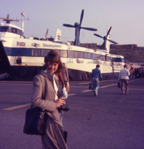Marg at the Hoverport, Dover