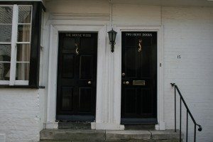 House with two front doors