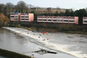 Weir on River Dee