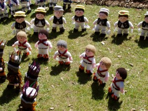 Knitted Morris Dancers
